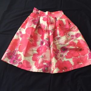 New Cents of Style Floral Cupcake Skirt Tea Length